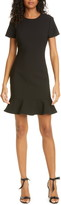 LIKELY Beckett Flounce Hem Short Sleeve Sheath Dress