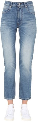 Ami Straight-Leg Cropped Jeans
