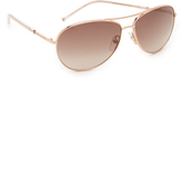 Marc Jacobs Easy To Wear Curved Aviator Sunglasses