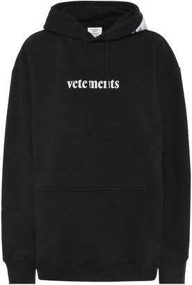 Vetements Oversized logo cotton-blend hoodie