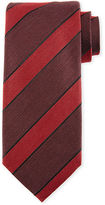 Tom Ford Border-Striped Herringbone Silk-Wool Tie