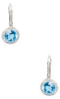 Rina Limor Fine Jewelry Swiss Blue Topaz & Diamond Drop Earrings