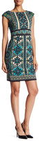 Maggy London Printed Ponte Sheath Dress
