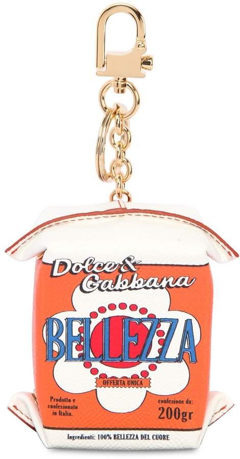 Dolce & Gabbana Bellezza Carton Leather Keychain