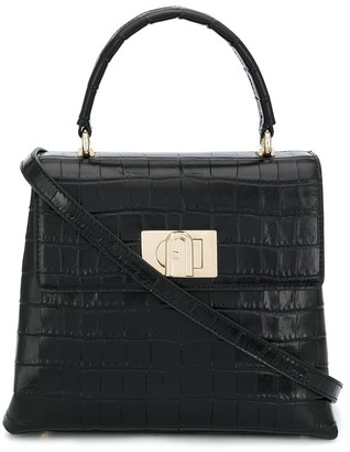 Furla 1927 Crocodile-Embossed Tote Bag