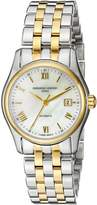 Frederique Constant FC303MPWN1B3B Women's Index Swiss Automatic Wrist Watches with Yellow Band