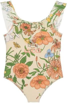 Gucci Flowers Print Lycra One Piece Swimsuit