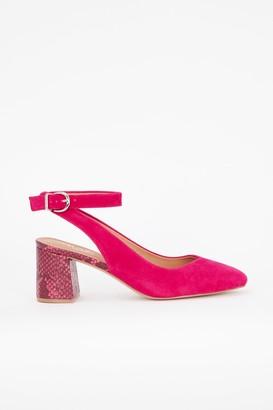 Wallis **Pink Ankle Strap Heeled Shoe