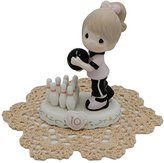 """Precious Moments """"Growing In Grace"""" Girl/Female collectible figurines with Westbraid Doily (Age 10, Brunette Hair)"""