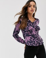Vero Moda floral fitted blouse