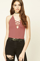 Forever 21 FOREVER 21+ Strappy-Cutout Cropped Cami