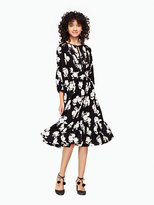 Kate Spade Posy floral silk dress