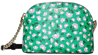 Kate Spade Spencer Party Floral Small Dome Crossbody (Green Multi) Handbags