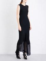 Ann Demeulemeester Asymmetric crepe gown