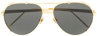 Linda Farrow Newman aviator frame sunglasses