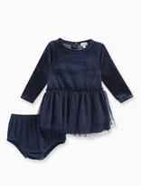 Splendid Baby Girl Triple Mesh Velour Dress