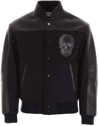 Alexander McQueen Skull Detail Bomber Jacket