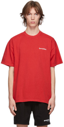 Sporty and Rich Red Drink More Water T-Shirt