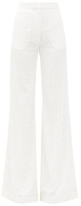 Halpern Sequinned Wide-leg Trousers - White