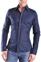 Bikkembergs Men's Blue Cotton Shirt.
