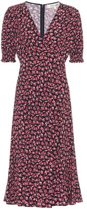 Diane von Furstenberg Idris floral crApe midi dress