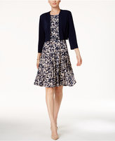 Jessica Howard Printed A-Line Dress and Bolero Jacket