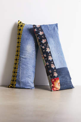 Urban Renewal Vintage Reclaimed Denim + Kantha Body Pillow