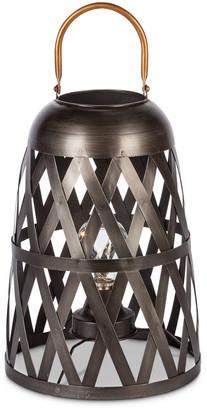 Everlasting Glow 12In Modern Metal Lantern