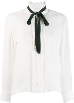 Sandro Paris long-sleeved bow blouse