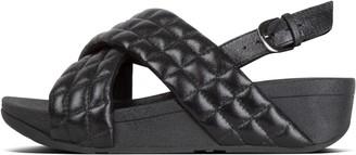FitFlop Lulu Padded Shimmysuede Back-Strap Sandals