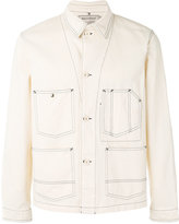 MAISON KITSUNÉ chevron worker jacket - men - Cotton - M