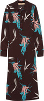 Marni Printed crepe midi dress