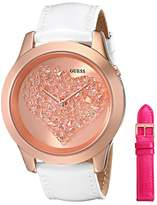 GUESS GUESS? Women's U0528L1 Leather Quartz Watch
