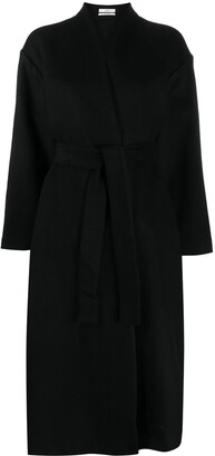 Co Long Belted Cashmere Coat