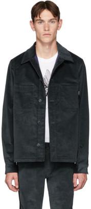 Paul Smith Blue Corduroy Wadded Shirt Jacket