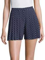 MICHAEL Michael Kors Dot-Print Pleated Shorts