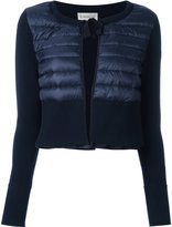 Moncler padded front cropped cardigan - women - Cotton/Polyamide/Polyimide - S