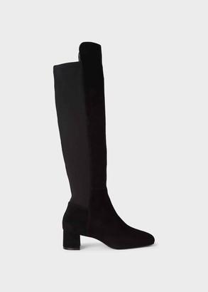 Hobbs Hailey Suede Block Heel Over-Knee Boots