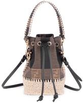 Fendi Mini Mon Tresor Crochet Bucket Bag