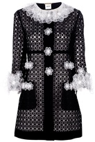 Moschino floral trim coat
