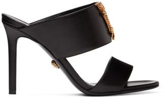 Versace Black Virtus Mule Heels