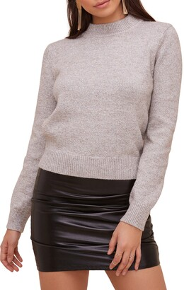ASTR the Label Cutout Back Sweater