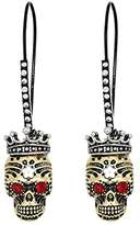 Betsey Johnson Skull Sheppard Hoop Earrings (Multi) Earring