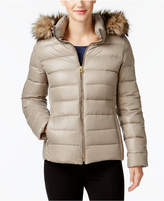 MICHAEL Michael Kors Faux-Fur-Trim Packable Down Puffer Coat, Created for Macy's