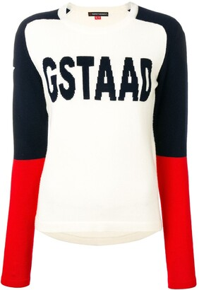 Perfect Moment Gstaad intrasia-knit jumper