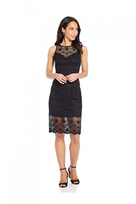 Adrianna Papell Sunrise Lace Illusion Sheath Dress