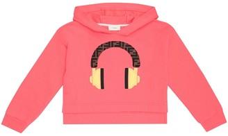 Fendi Cotton-jersey hoodie