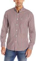 Dockers Long Sleeve Bold Multi Roadmap Cvc Woven Shirt