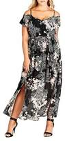 City Chic Plus Shadow Floral Maxi Dress