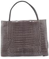 Nancy Gonzalez Wallis Large Bicolor Crocodile Tote Bag